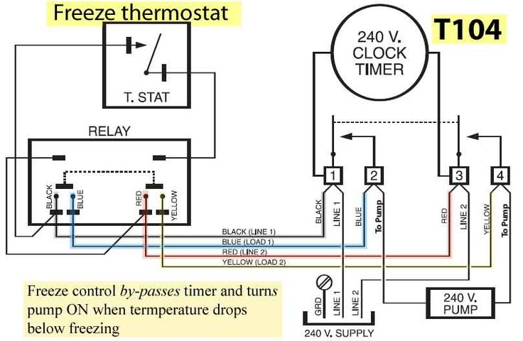 water heater timer wiring diagram Download-how to wire freeze control 4-g