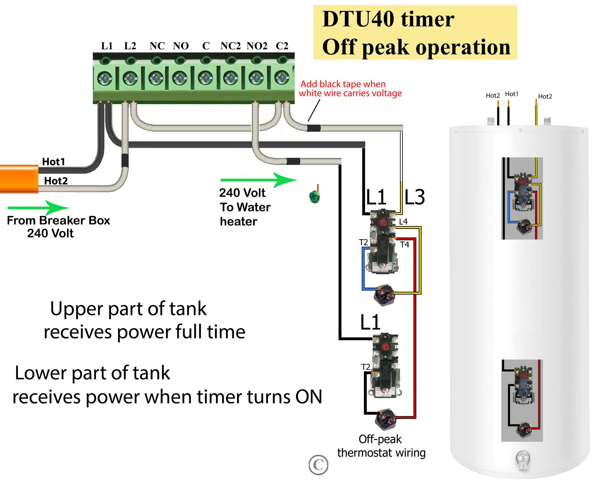 water heater timer wiring diagram Collection-Water Heater Wiring Diagram Dual Element Inspirational How to Wire Water Heater thermostats 18-g