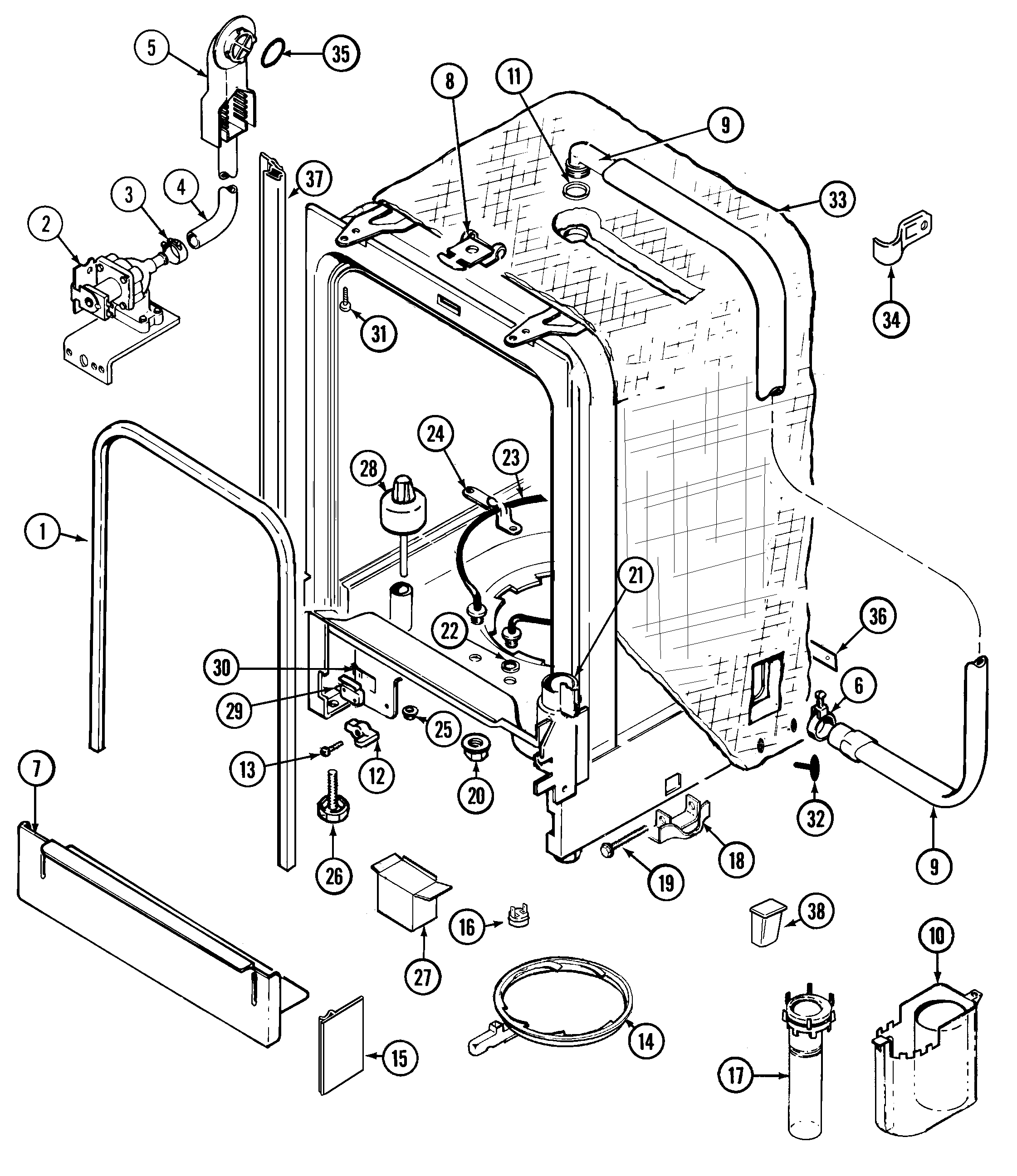 whirlpool dishwasher wiring diagram collection