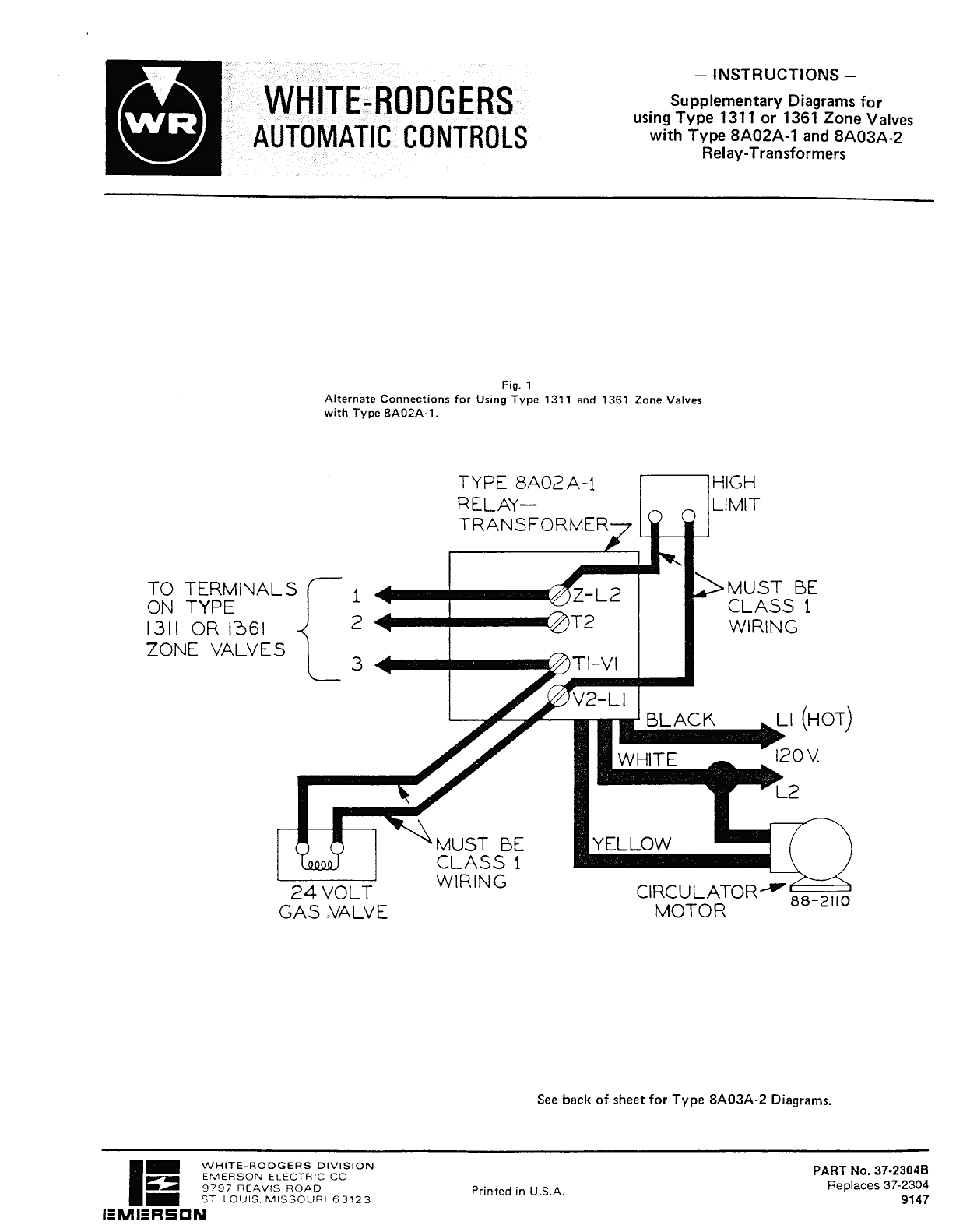 white rodgers 1311 102 wiring diagram Download-free wiring diagram Honeywell Zone Valve Wiring Diagram Honeywell 4 Wire Zone Valve of 3-o