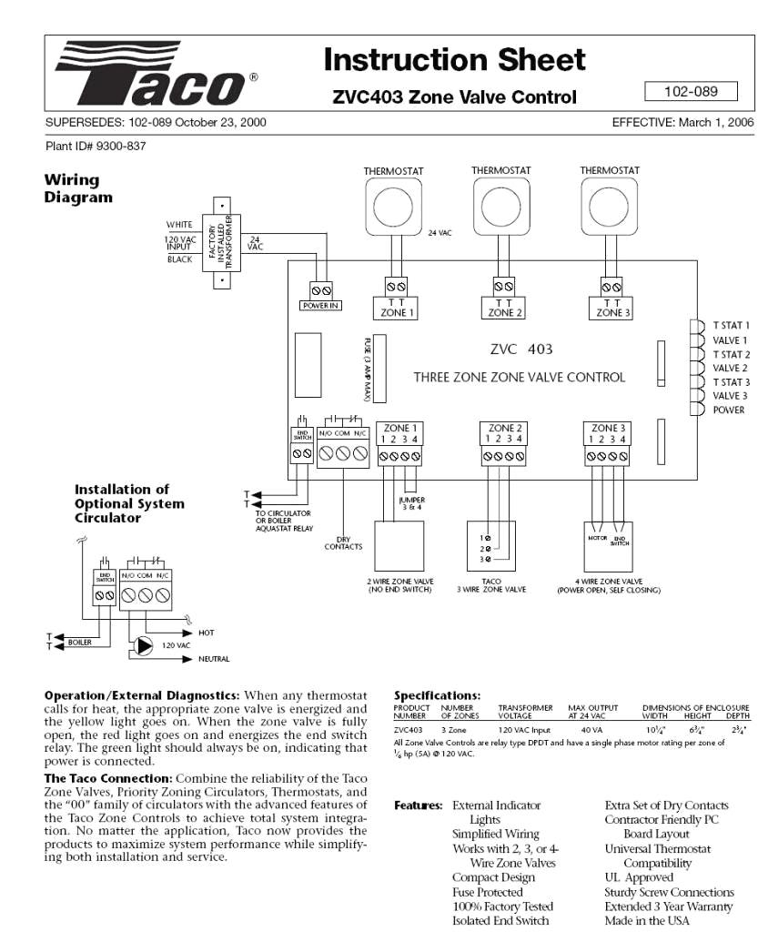 white rodgers 1311 102 wiring diagram Download-Taco Zvc403 4 Wiring Diagram Unique Amazing Caleffi Zone Valve Wiring Diagram Electrical and 16-q