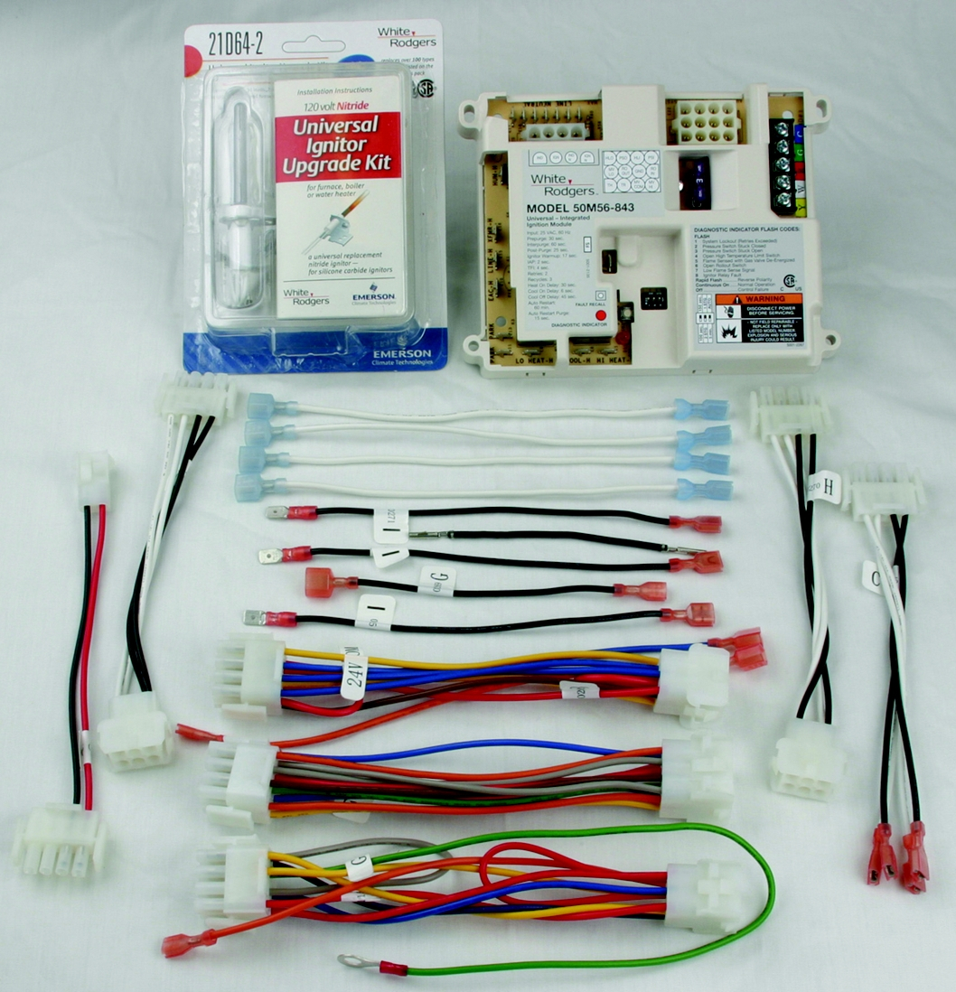 white rodgers 50e47 843 wiring diagram Download-Universal Hot Surface Ignition Integrated Furnace Control Kit Includes 21D64 2 Universal Ignitor 7-t