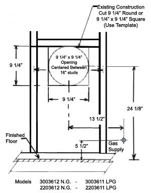 williams wall furnace wiring diagram Collection-rough in dimensions 5-l