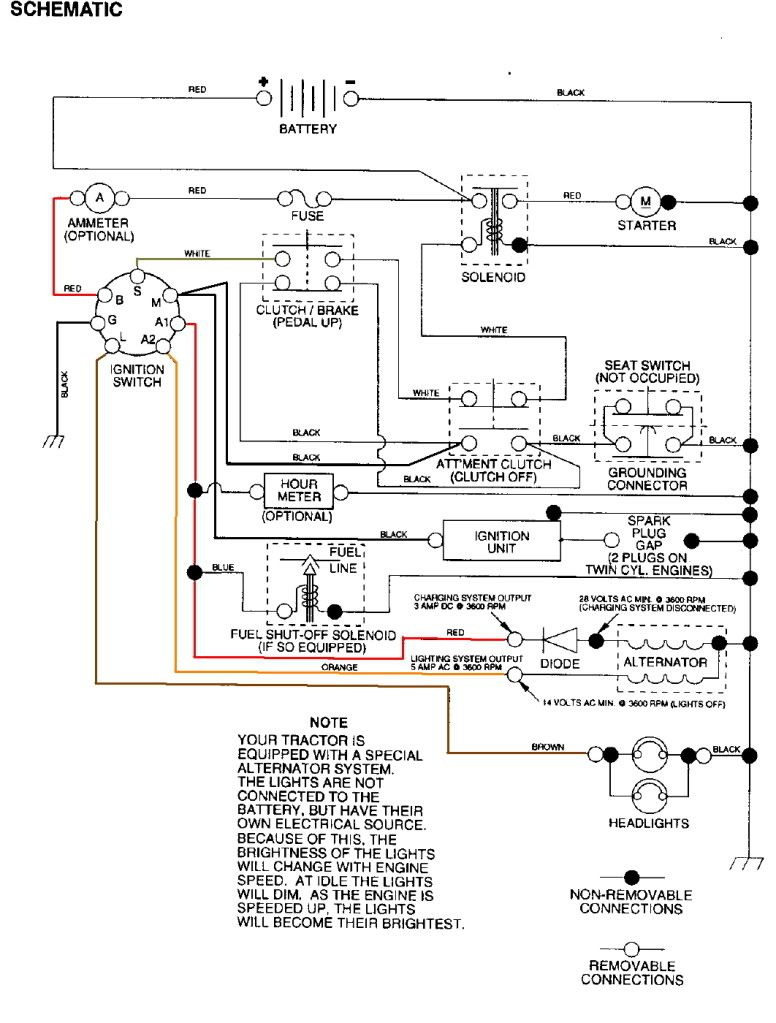 wiring diagram for craftsman riding lawn mower Download-Craftsman Riding Mower Electrical Diagram 13-c