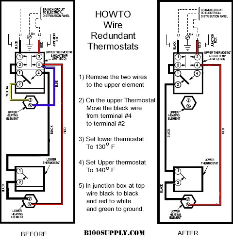 wiring diagram for hot water heater thermostat Download-Rheem Electric Water Heater Wiring Diagram Awesome How to Wire Water Heater thermostats 14-a