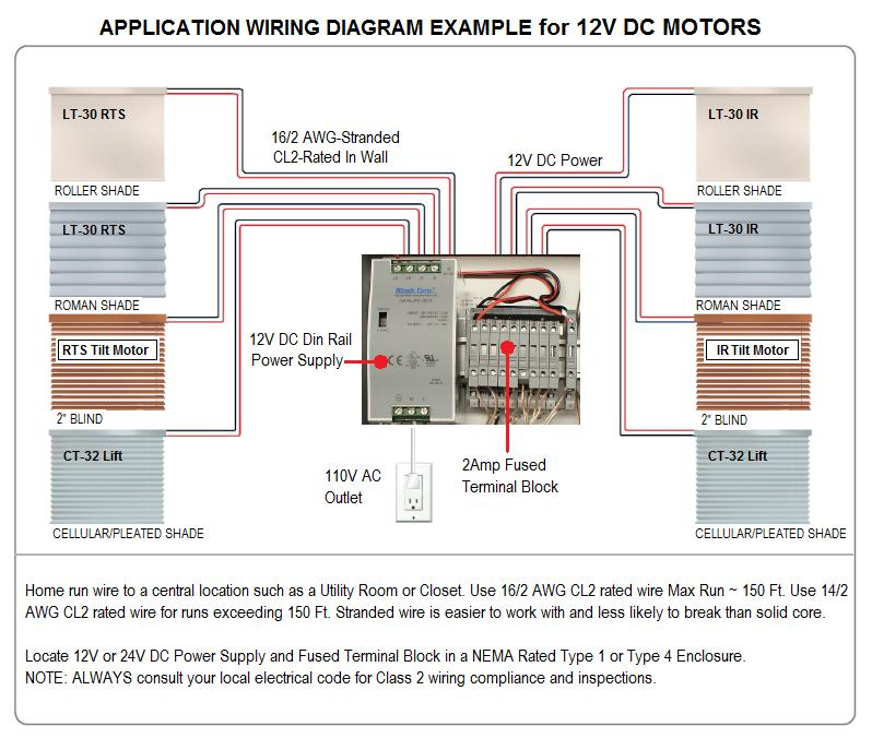wiring diagram for motorized blinds Download-Sample Wiring Diagram for Multiple 12V DC Motors 11-f