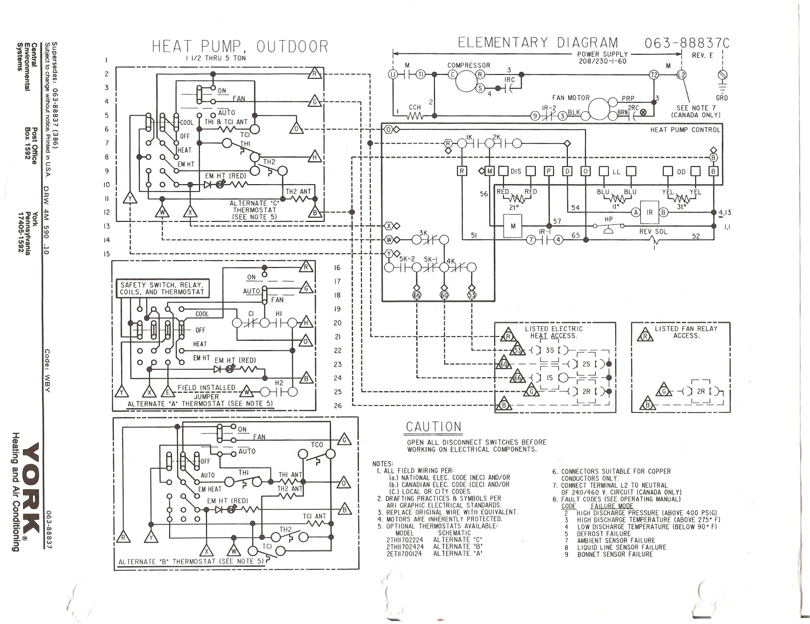york package unit wiring diagram Collection-York Rooftop Unit Wiring Diagram Fresh York Wiring Diagrams 13-a