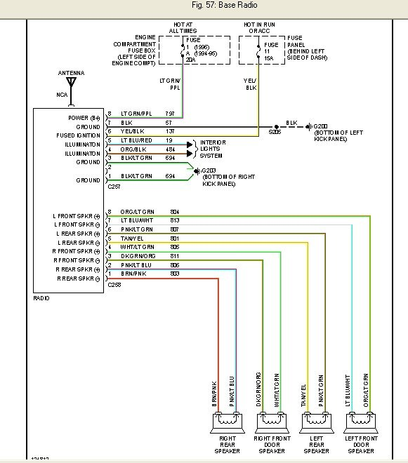 2003 Ford Windstar Radio Wiring Diagram from www.justanswer.com