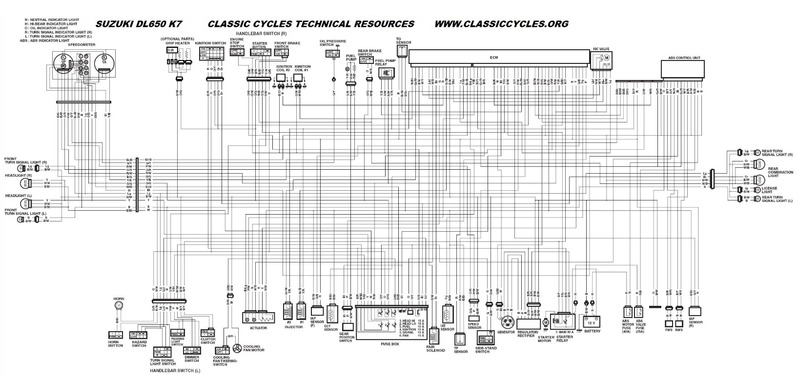 92 Suzuki Bandit Gsf 400 Wiring Diagram from www.classiccycles.org