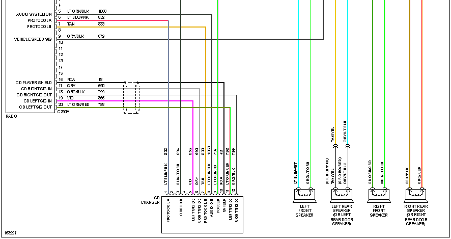 Ford Speaker Wiring Diagram from www.justanswer.com