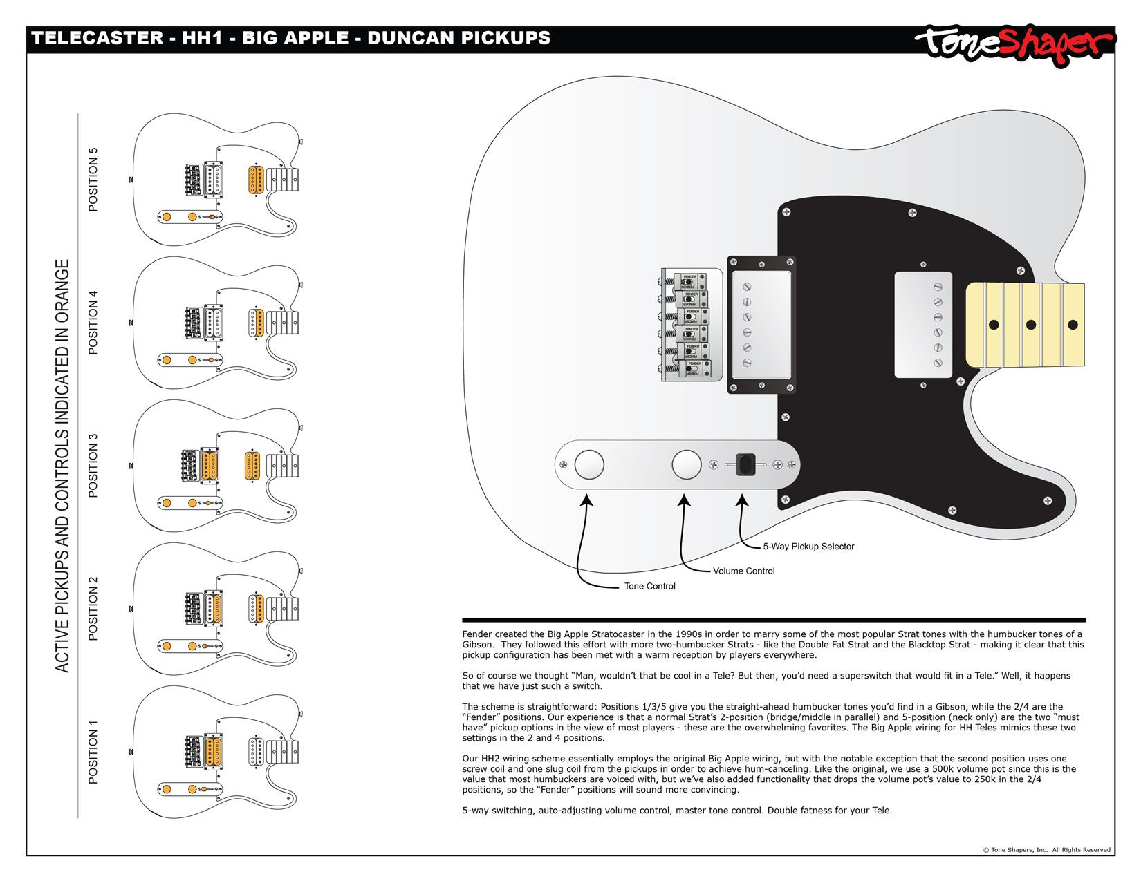Humbucker Wiring Diagram 3 Way Switch Telecaster