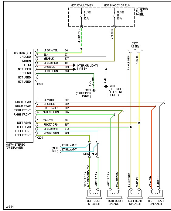2000 Ford Explorer Stereo Wiring Diagram from www.2carpros.com