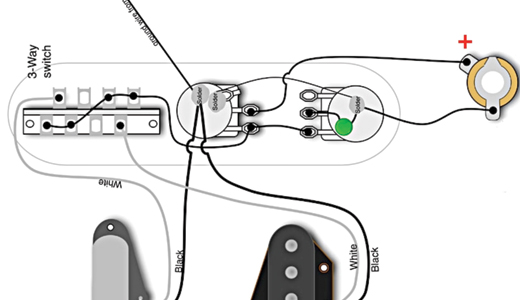 Telecaster Series Wiring Using A 3 Way Switch Diagram from www.premierguitar.com
