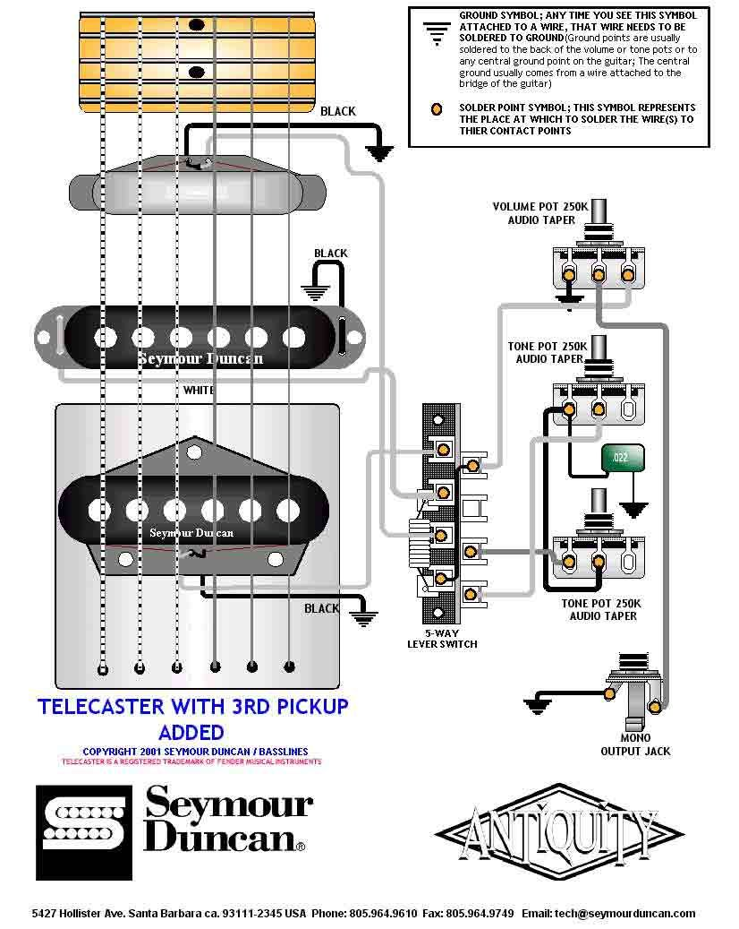 Wiring Diagram Humbucker Telecaster from i.pinimg.com