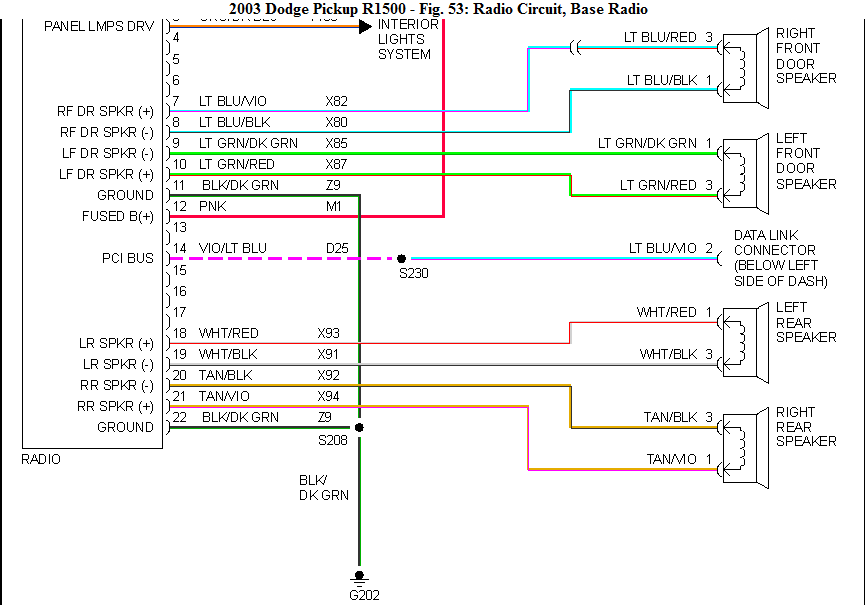 1995 Dodge Ram Radio Wiring Diagram from www.justanswer.com