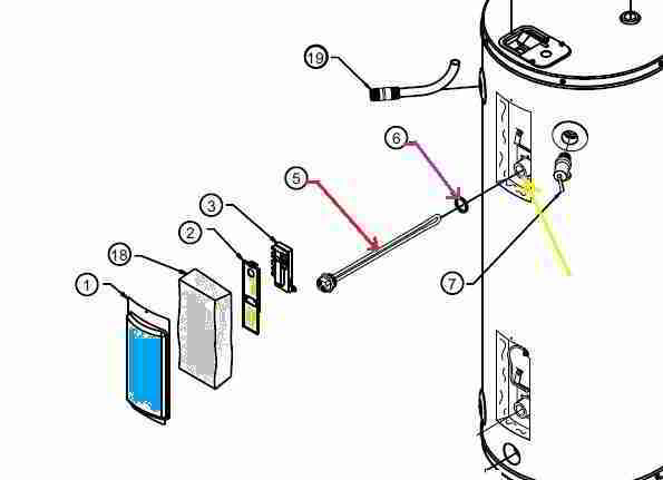 American Hot Water Heater Wiring Diagram from inspectapedia.com