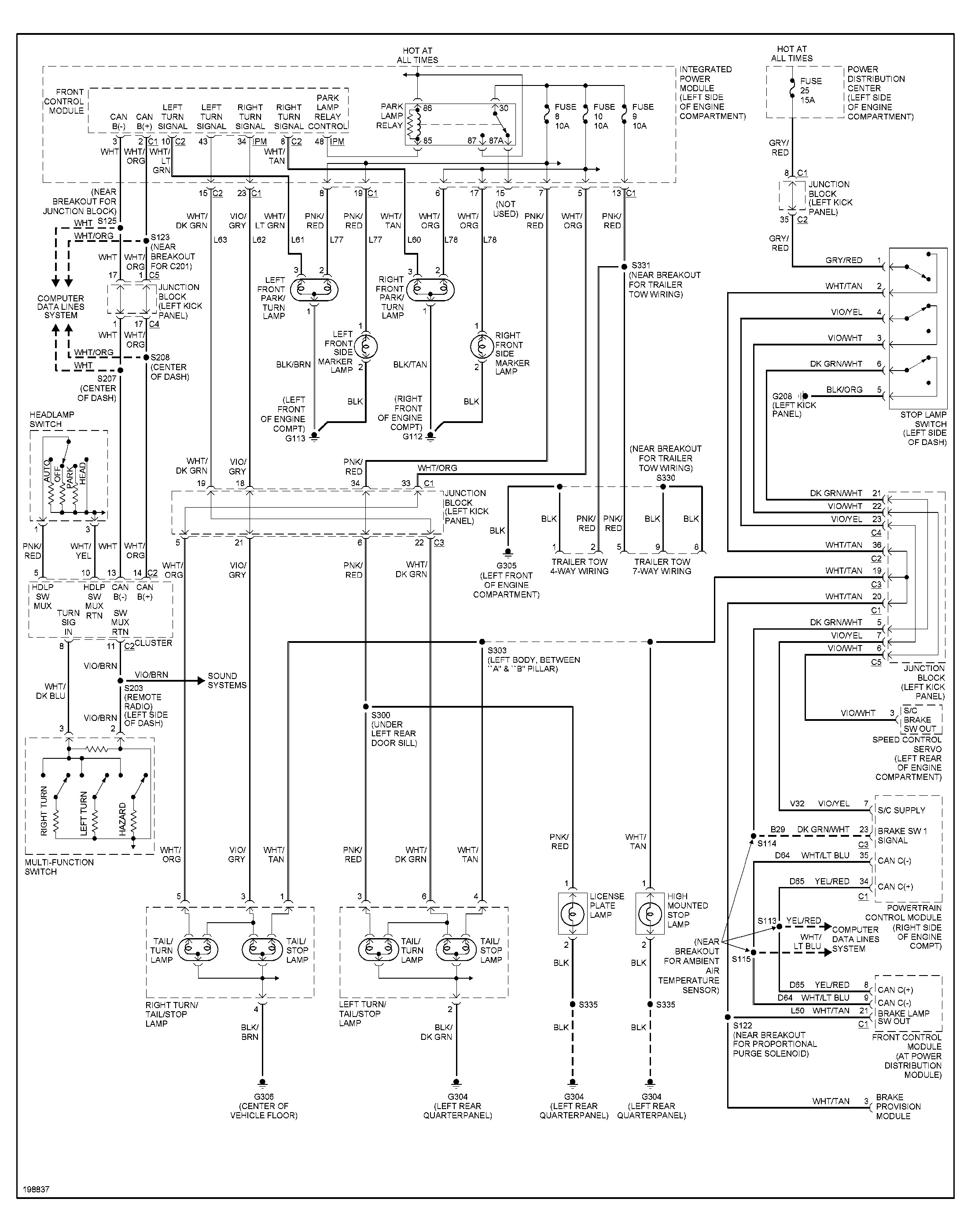2005 Dodge Durango Infinity Sound System Wiring Diagram from www.2carpros.com