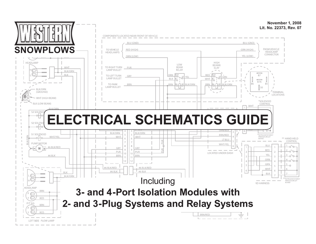 Western Plow Ultra Mount Headlight Wiring Diagram With Five Relays  U2013 Collection