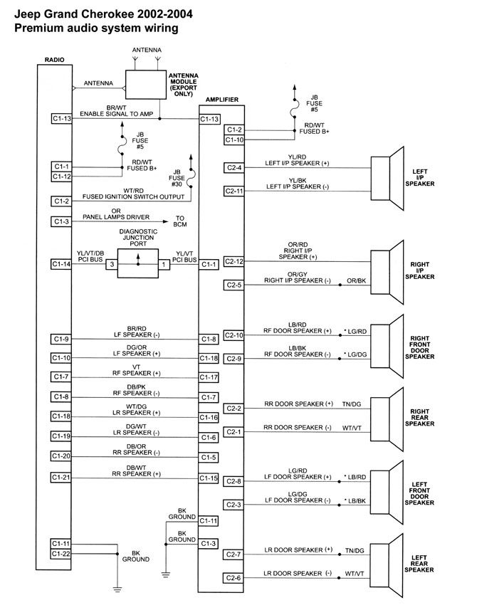1999 Jeep Grand Cherokee Infinity Stereo Wiring Diagram from i.pinimg.com