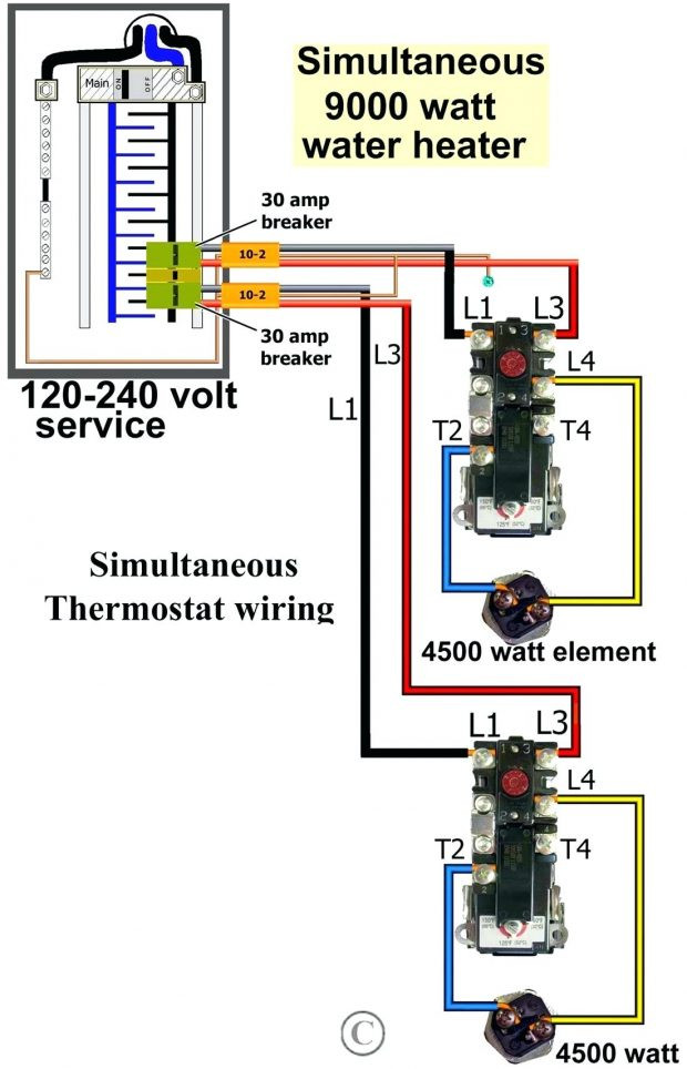 Wiring Diagram For 120 Volt Hot Water Heater Element from static.manonellamano.org